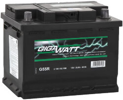 Аккумулятор Gigawatt 0185755600 56Ah 480A 242x175x190 о.п. (-+) (ETN 556400048 G55R)