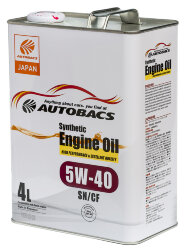 Моторное масло Autobacs Synthetic 5W-40 (4 л.) A00032066