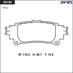 Тормозные колодки Advics SN189