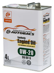 Моторное масло Autobacs Synthetic 0W-20 (4 л.) A00032058
