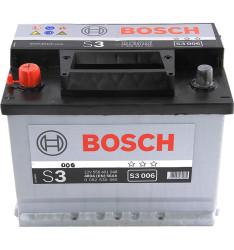 Аккумулятор Bosch S3 56Ah 480A 242x175x190 п.п. (+-)