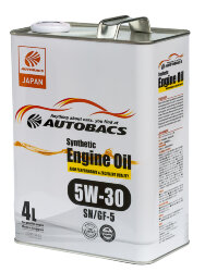 Моторное масло Autobacs Synthetic 5W-30 (4 л.) A00032062