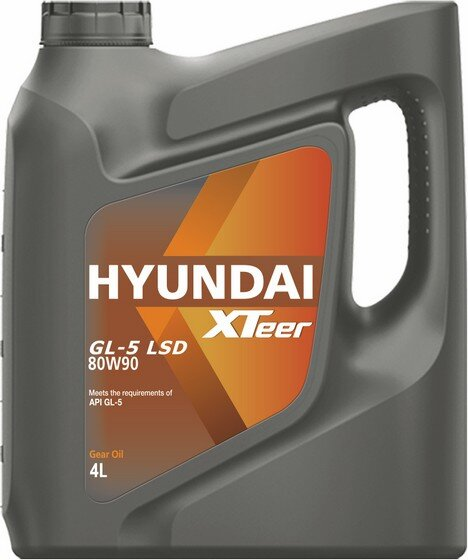 Трансмиссионное масло Hyundai (Kia) Xteer Gear Oil GL-5 LSD 80W-90 (4 л.) 1041423