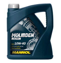 Моторное масло Mannol Molibden Benzin 10W-40 (4 л.) 1121