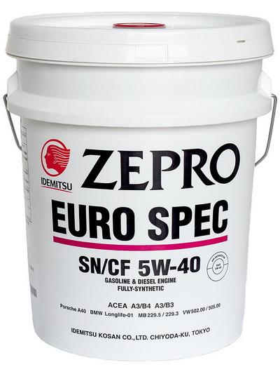 Моторное масло Idemitsu Zepro Euro Spec 5W-40 (20 л.) 1849-020