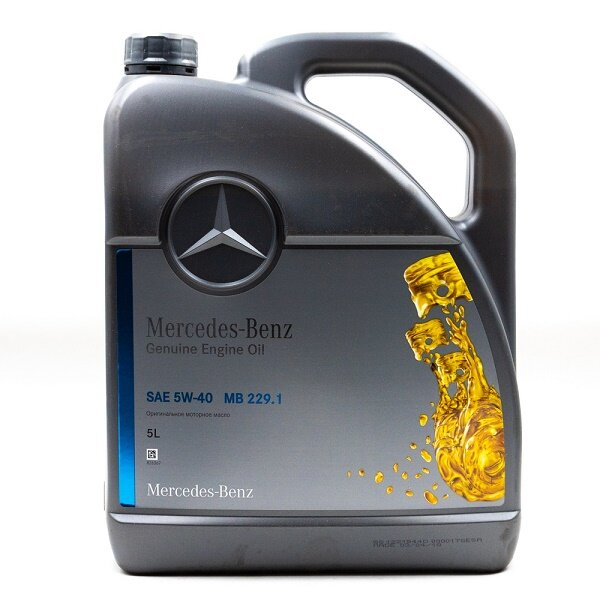 Моторное масло Mercedes MB229.1 5W-40 (5 л.) A000989730213BGFR