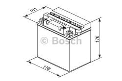 Аккумулятор Bosch M4 12V 19Ah 180A 0092M4F460