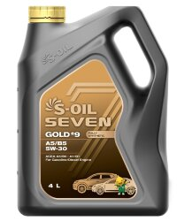 Моторное масло S-Oil Seven GOLD9 A5-B5 5W-30 (4 л.) E107768
