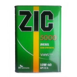 Моторное масло ZIC 5000 Diesel 10W-40 (4 л.) 163128