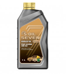 Моторное масло S-Oil Seven GOLD9 PAO A3/B4 0W-40 (1 л.) E107741