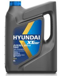 Моторное масло Hyundai (Kia) Xteer Diesel Ultra 5W-40 (6 л.) 1061223