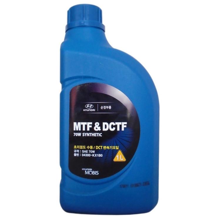 Трансмиссионное масло Hyundai (Kia) MTF-DCTF 70W Synthetic (1 л.) 04300-KX1B0
