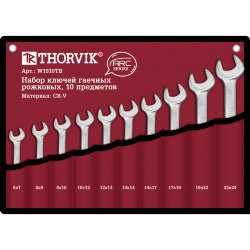 Набор ключей Thorvik 6-24 мм., 10 предметов W1S10TB