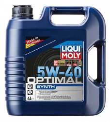 Моторное масло Liqui Moly Optimal Sinth 5W-40 (4 л.) 3926