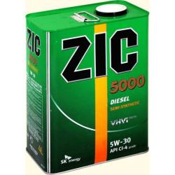 Моторное масло ZIC 5000 Diesel 5W-30 (4 л.) 163134