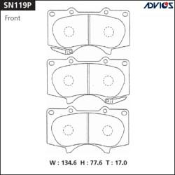 Тормозные колодки Advics SN119P