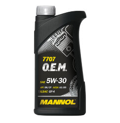 Моторное масло Mannol 7707 O.E.M. 5W-30 (1 л.) 1094