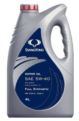 Моторное масло SsangYong Motor Oil 5W-40 (4 л.) LLK05W40004