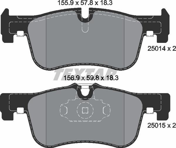 Тормозные колодки Textar 2501401