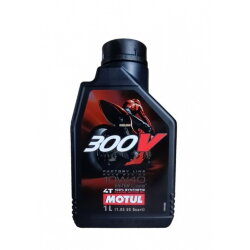 Масло четырехтактное Motul 300V 4T FL Road Racing 10W-40 (1 л.) 104118