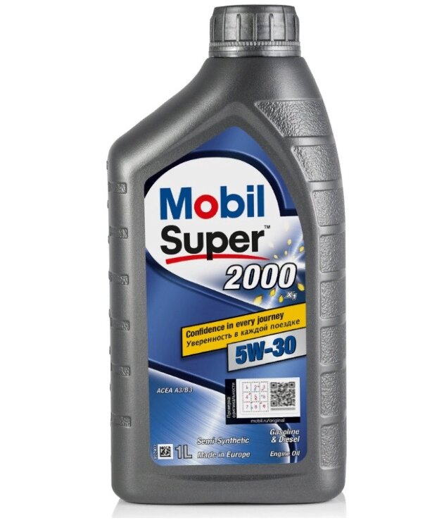 Моторное масло Mobil Super 2000 X1 5W-30 (1 л.) 155184