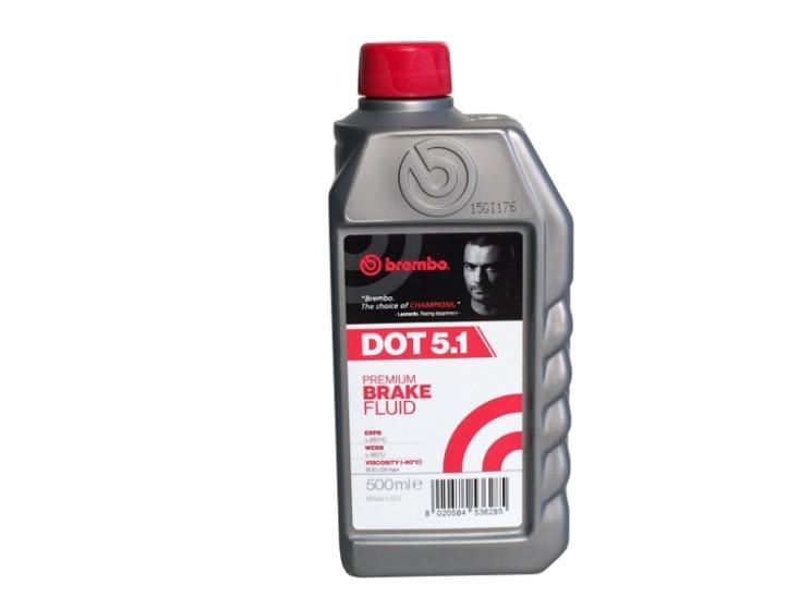 Тормозная жидкость Brembo DOT 5.1 (0,5 л.) L05005
