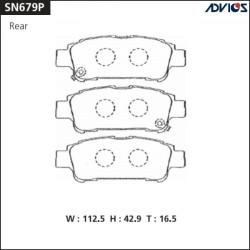 Тормозные колодки Advics SN679P