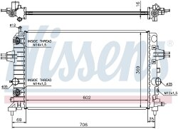 Радиатор Nissens 630702