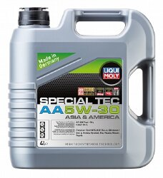 Моторное масло Liqui Moly Special Tec AA 5W-30 (4 л.) 7516