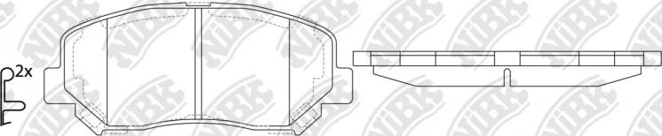 Тормозные колодки NiBK Performance PN25000S