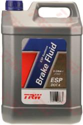 Тормозная жидкость TRW DOT 4 ESP (5 л.) PFB445