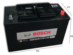 Аккумулятор Bosch T3 12V 110Ah 680A о.п. (-+) 0092T30350