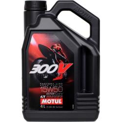 Масло четырехтактное Motul 300V 4T FL Road Racing 15W-50 (4 л.) 104129