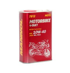 Масло четырехтактное Mannol Motorbike 4-Takt 10W-40 (4 л.) 6006