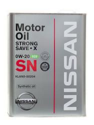 Моторное масло Nissan SN Strong Save X 0W-20 (4 л.) KLAN0-00204