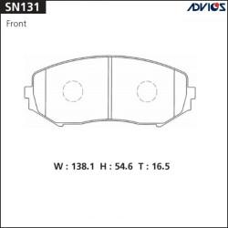 Тормозные колодки Advics SN131