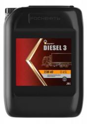 Моторное масло Rosneft Diesel 3 15W-40 (20 л.) 10125