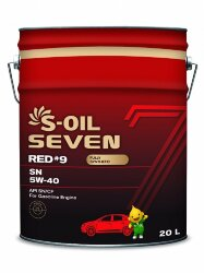 Моторное масло S-Oil Seven RED9 SN 5W-40 (20 л.) E107617