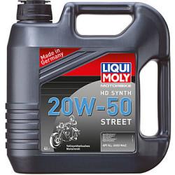 Масло четырехтактное Liqui Moly Motorbike HD Synth Street 20W-50 (4 л.) 3817