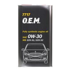 Моторное масло Mannol 7717 O.E.M. 0W-30 (4 л.) 4060