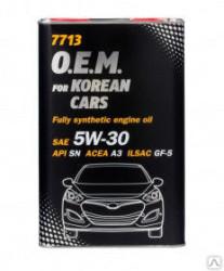 Моторное масло Mannol 7713 O.E.M. for Korean Cars 5W-30 (4 л.) 7030