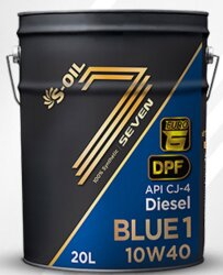 Моторное масло S-Oil Seven BLUE1 CJ 10W-40 (20 л.) BL110W40_20