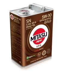 Моторное масло Mitasu MJ-101 Gold SN 5W-30 (4 л.) MJ1014