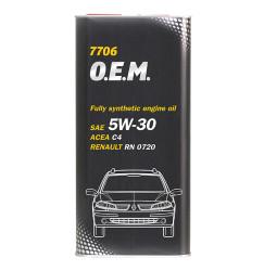 Моторное масло Mannol 7706 O.E.M. 5W-30 (5 л.) 4041