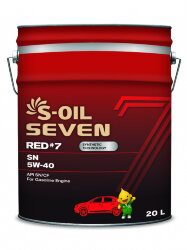 Моторное масло S-Oil Seven RED7 SN 5W-40 (20 л.) E107651