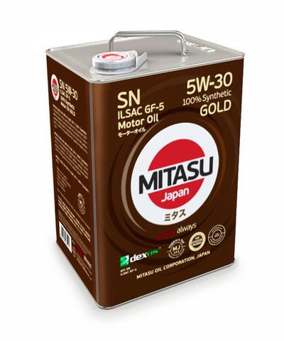 Моторное масло Mitasu MJ-101 Gold SN 5W-30 (6 л.) MJ1016