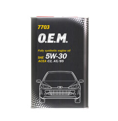 Моторное масло Mannol 7703 O.E.M. 5W-30 (1 л.) 4050