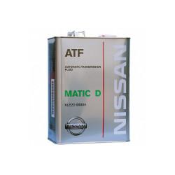 Трансмиссионное масло Nissan ATF Matic-D (4 л.) KLE22-00004