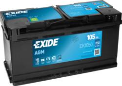Аккумулятор Exide EK1050 105Ah 950A 392x175x190 о.п. (-+) Start-Stop AGM