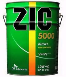 Моторное масло ZIC 5000 Diesel 10W-40 (20 л.) 193128